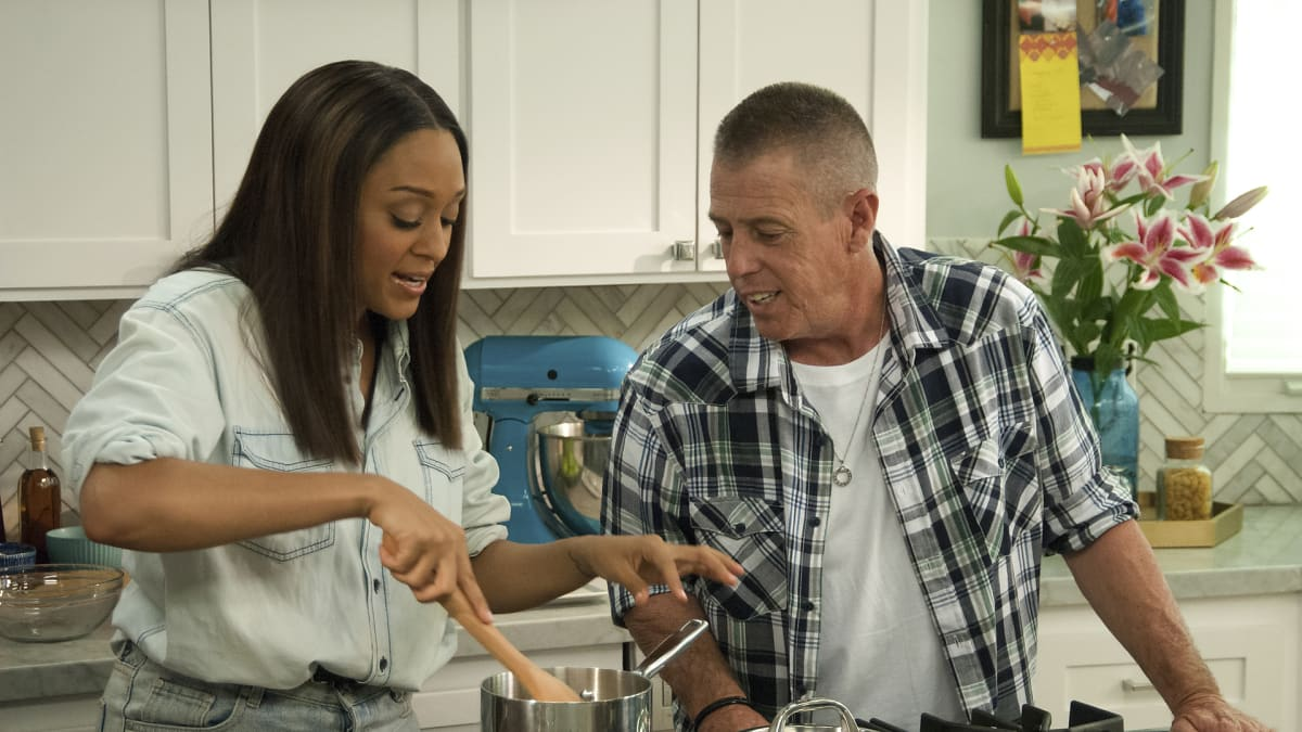 Tia and her dad grill and reminisce about their time living in Hawaii.